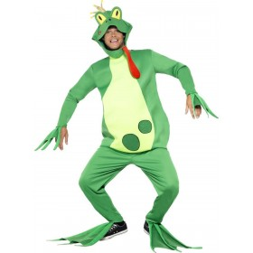 Frog Prince Costume, Top with Attached Gloves Fancy Dress