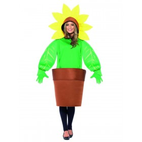 Sunflower Costume, with Top with Attached Hood Fancy Dress