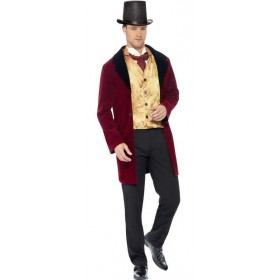 Men'S Deluxe Period Edwardian Gent Fancy Dress Costume