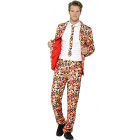 Mens Sweets/Candy Stand Out Suit Fancy Dress Costume