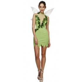 Ladies Green Fever Magical Tinkerbell Fairy Fancy Dress Costume