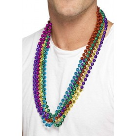 Rainbow Party Beads Fancy Dress Accessory