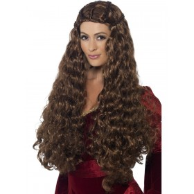 Medieval Princess Wig Fancy Dress Accessory