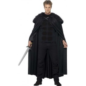 Men'S Dark Crow Barbarian Fancy Dress Costume