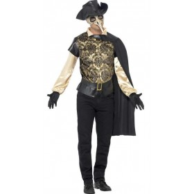 Men'S Black Death Plauge Doctor Halloween Fancy Dress Costume