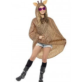 Giraffe Party Poncho Fancy Dress Costume