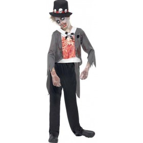 Boys Black Zombie Groom  (Fancy Dress Costume)