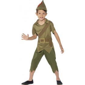 Boys Green Robin Hood Fancy Dress Costume