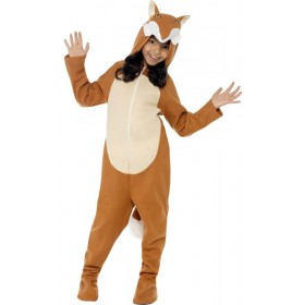 Childs Brown Fox All in One Fancy Dress Costume