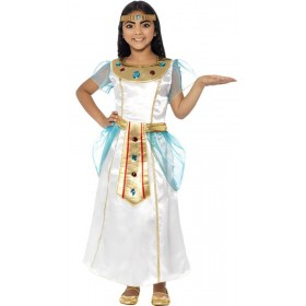 Girls White Deluxe Egyptian Cleopatra Fancy Dress Costume