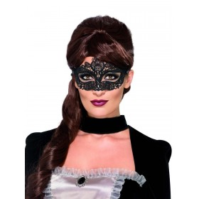 Embroidered Lace Filigree Eyemask Fancy Dress Accessory
