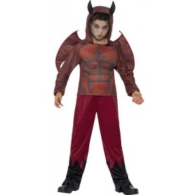 Boy'S Deluxe Devil Halloween Fancy Dress Costume