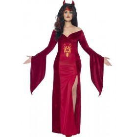 Ladies Red Curves Devil Halloween Fancy Dress Costume