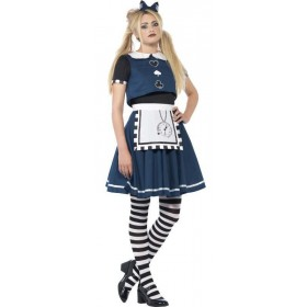 Teen Alice Dark Day Dreamer Halloween Fancy Dress Costume
