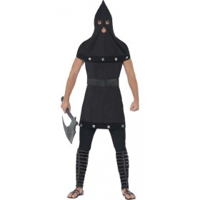 Men'S Dungeon Master/Medieval Executioner Halloween Fancy Dress Costume