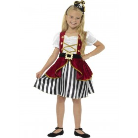 Deluxe Pirate Girl Costume Fancy Dress