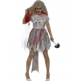 Deluxe Zombie Bride Costume Fancy Dress