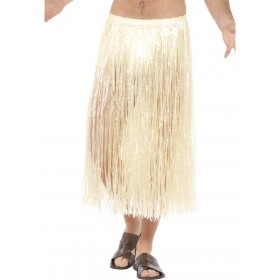 Hawaiian Hula Skirt, with Velcro Fastening Fancy Dress Accessory