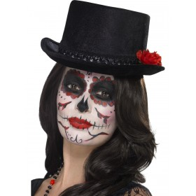 Day of the Dead Top Hat Fancy Dress Accessory