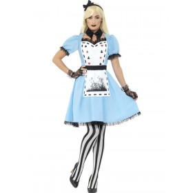 Deluxe Dark Tea Party Costume, with Dress Fancy Dress