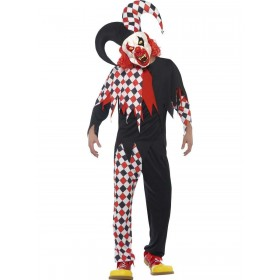 Crazed Jester Costume Fancy Dress