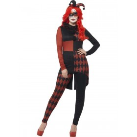 Sinister Jester Costume Fancy Dress