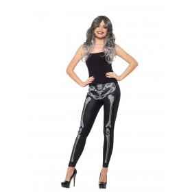 Skeleton Leggings Fancy Dress Accessory