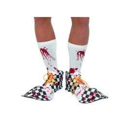 Bloody Clown Shoe Covers Fancy Dress Accessory