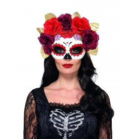 Day of the Dead Rose Eyemask Fancy Dress Accessory
