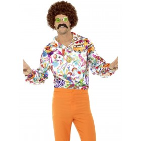 60s Groovy Shirt Fancy Dress Costume