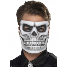Day of the Dead Skeleton Mask Fancy Dress Accessory