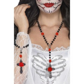 Day of the Dead Rosary Bead Set Fancy Dress Accessory