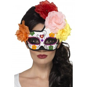 Day of the Dead Crescent Eyemask Fancy Dress Accessory