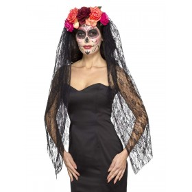 Deluxe Day of the Dead Headband Fancy Dress Accessory