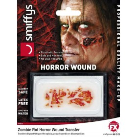 Horror Wound Transfer, Zombie Rot Fancy Dress Accessory