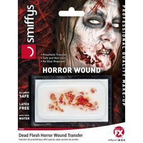 Horror Wound Transfer, Dead Flesh Fancy Dress Accessory