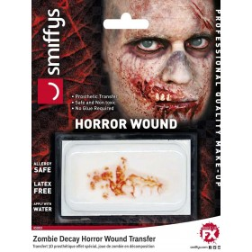 Horror Wound Transfer, Zombie Decay Fancy Dress Accessory
