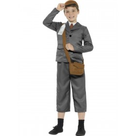 WW2 Evacuee Boy Costume Fancy Dress