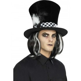 Dark Tea Party Top Hat Fancy Dress Accessory