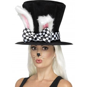 Tea Party March Hare Top Hat Fancy Dress Accessory