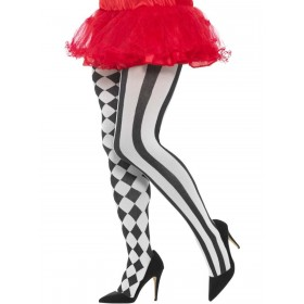 Harlequin Tights, Plus Size Fancy Dress Accessory