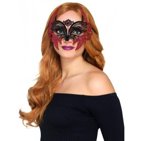 Metal Filigree Devil Eyemask Fancy Dress Accessory