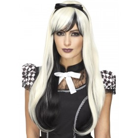 Deluxe Gothic Alice Wig Fancy Dress Accessory