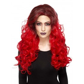 Deluxe Devil Glamour Wig Fancy Dress Accessory