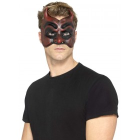 Masquerade Devil Mask, Latex Fancy Dress Accessory