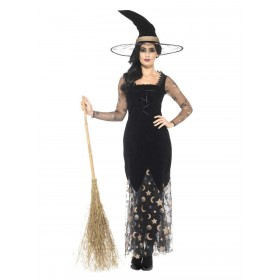 Deluxe Moon & Stars Witch Costume Fancy Dress