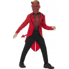 Deluxe Day of the Dead Devil Boy Costume Fancy Dress