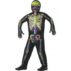 Glow in the Dark Skeleton Costume Fancy Dress