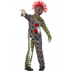 Deluxe Twisted Clown Costume Fancy Dress