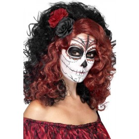Ladies Day Of The Dead Sugar Skull Wig Halloween Accessory